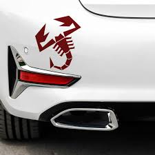 25cm 21 6cm Car Sticker For Fiat 500 Abarth Scorpion Car Bonnet Side Stripes Stickers Decal Graphic Car Stickers Aliexpress