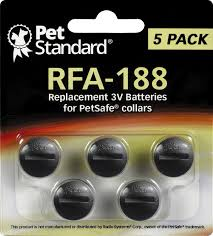 Pet Standard Rfa 188 Replacement 3v Batteries For Petsafe Collars 5 Pack Chewy Com