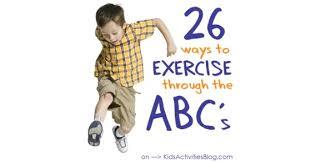 make physical fitness fun alphabet