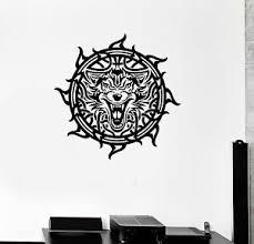 Wall Decal Celtic Patterns Irish Wolf Ireland Room Art Vinyl Stickers Ig2914 Ebay