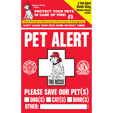Pet Safety Alert Rescue Rover Pet Alert Fire Rescue Decals Pack Of 2 Decals 4 W X 5 H Petco