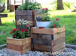diy reclaimed wood planter boxes