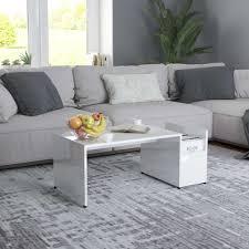 coffee table high gloss white 90x45x35