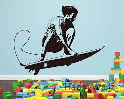 Surfer Surfing Wall Sticker Surfing Wall Decal Diy Children Decorating Interior Design Genie