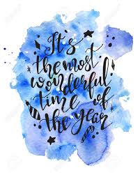 christmas lettering hand drawn quote its the most wonderful time