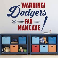Amazon Com Baseball Wall Decal La Dodgers Wall Decor Vinyl Sticker For Sports Team Athlete Bedroom Decoration Playroom Or Home Mancave Gift Handmade