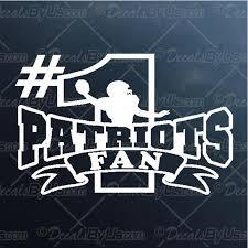 Patriots 1 Fan Decal Patriots 1 Fan Car Sticker Low Prices