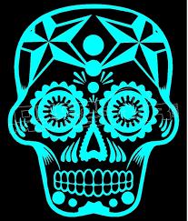 Sugar Skull Silhouette 2 Decal Sticker Dm Decalmonster Com
