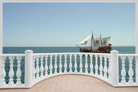 huge 3d balcony pirate ship schooner