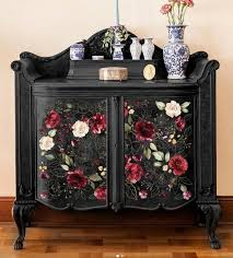 Rub On Transfers For Furniture Midnight Floral Furniture Etsy