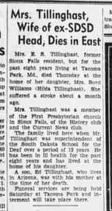 Hilda Beatrice (nee Watson) Tillinghast - Newspapers.com