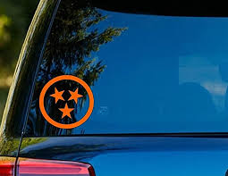 Amazon Com T1129 Tennessee Tri Star Decal 4 25 X 4 25 Easy To Apply Instructions Included Premium 6 Year Vinyl