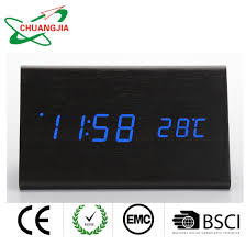 China Wood Table Alarm Clock With Date And Temperature For Kids Bedroom China Howard Miller Clocks And Gift Clock Price