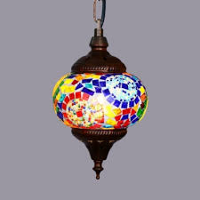 colorful orb hanging lamp bedroom