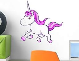 Amazon Com Wallmonkeys Wm1700 Cute Little Baby Unicorn Wall Decal Peel And Stick Graphic 12 In H X 9 In W Home Kitchen