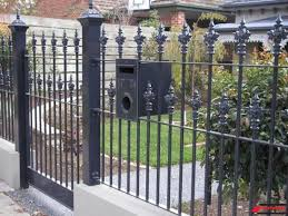 Wrought Iron Fencing Gate Mailbox Iron Fence Fence Design Wrought Iron Fences