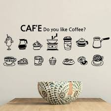 New Arrival Cafe Vinyl Wall Decal Coffee Cake Cup Coffee Sign Mural Art Wall Sticker Coffee Shop Bar Glass Decor Wall Stickers Aliexpress