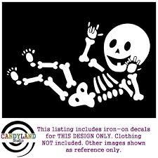 Baby Skeleton Iron On Asl I Love You Baby Candyland Studio