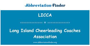 LICCA definizzjoni: Assoċjazzjoni Coaches Cheerleading Island twila - Long  Island Cheerleading Coaches Association