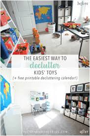 The Easiest Way To Declutter Kids Toys With Free Printable Decluttering Calendar Abby Lawson