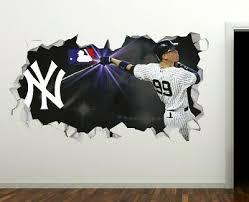 New York Yankees Baseball Mlb Custom Smashed 3d Wall Decal Sticker Vinyl Ori661 Ebay
