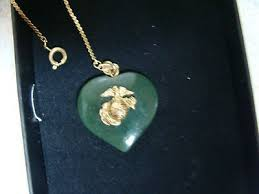 vintage jade heart pendant with gold