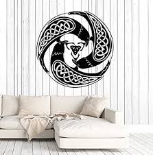 Amazon Com Amazing Home Decor Vinyl Wall Decal Celtic Raven Pattern Druid Irish Art Ireland Stickers Large Decor 877 Made In The Usa Removable Home Kitchen