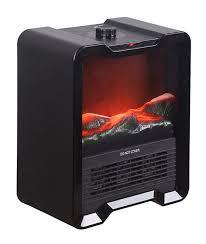 mini black portable electric fireplace