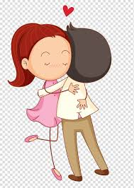 love cartoon romance hug cartoon