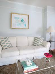 chic gray blue living room