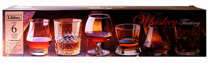libbey whiskey tasting set of 6 gles