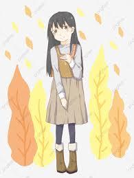 فتاة ذات شعر طويل سيدة الخريف فتاة جميلة بنات فتاة صغيرة اليد