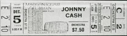 johnny cash madison square garden
