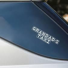 Yjzt 19 5 2cm Grandads Taxi Fun Vinyl Car Styling Letters Decal Car Sticker Black Silver S8 1639 Car Sticker Stickers Blackcar Decal Sticker Aliexpress