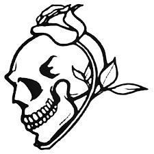 Rose Skull Decal Sticker