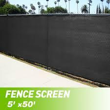 Jaxpety Black 5 X50 Fence Windscreen Privacy Screen Shade Cover Fabric Mesh Garden Tarp Walmart Com Walmart Com