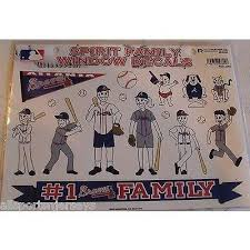 Mlb Atlanta Braves Spirit Family Decals Set Of 17 By Rico Industries All Sports N Jerseys