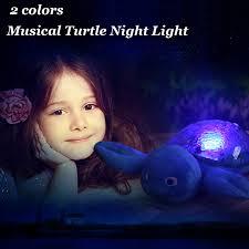 Home Garden Turtle Night Light Star Sky Projection Lamp Musical Led Baby Kids Sleep Bedroom Night Lights Lamps Lighting Ceiling Fans Night Lights