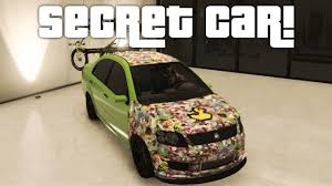 Gta Online How To Get The Asea Sticker Bomb Car Rarest Car New Way Youtube