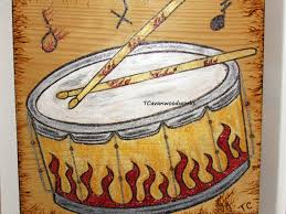 Drum Painting Drummer Gifts Flame Art Snare Drum Art Etsy