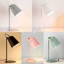 Metallic Cup Shade Reading Light Colorful Contemporary 1 Head Desk Lamp For Bedside Kids Room In 2020 Desk Lamp Kids Desk Lamp Pink Desk Lamps