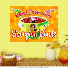 Famous Scorpion Bowls Wall Decal At Retro Planet