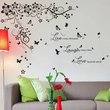 Ebern Designs New Huge Butterfly Vine And Live Laugh Love Wall Decal Reviews Wayfair