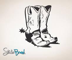 Vinyl Wall Decal Sticker Cowboy Boots 784 Stickerbrand