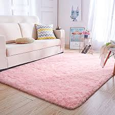 Amazon Com Super Soft Kids Room Nursery Rug 5 X 8 Pink Mordern Indoor Fluffy Area Rugs For Bedroom Living Room Baby Girls Boys Floor Carpets By Varycarry Kitchen Dining