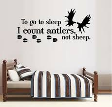 To Go To Sleep I Count Antlers Not Sheep Moose Wall Decal Ebay