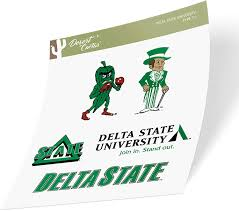 Amazon Com Delta State University Lady Statesmen Ncaa Sticker Vinyl Decal Laptop Water Bottle Car Scrapbook Type 2 Sheet Arts Crafts Sewing