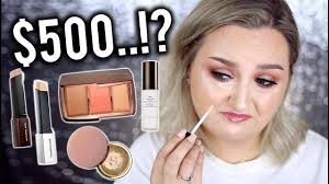 i tried 500 worth of hourgl makeup