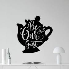 Be Our Guest Wall Decal Beauty And The Beast Sign Disney Quote Etsy