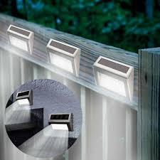 1pc Super Bright Solar Powered Door Fence Wall Lights Led Outdoor Garden Lighting Lazada Ph